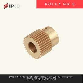 Polea dentada 26 dientes MK8 para impresora 3D - Ender 3 - CR10