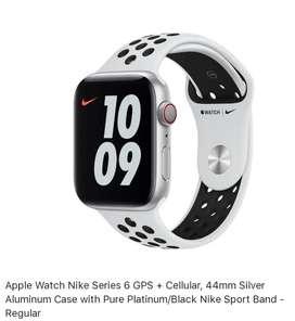 Stock Apple Watch Serie 6 Nike 44mm GPS + LTE Sellado