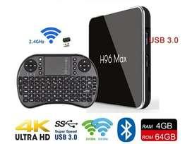 Tv Box 4gb 64gb Android 9.0 Y Teclado
