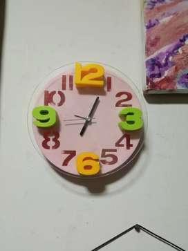 Reloj infantil con despertador vintage de pared coleccionable