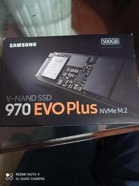 Vendo memoria Samsung nand SSD 970 Evo plus disco duro sólido 500 GB nueva