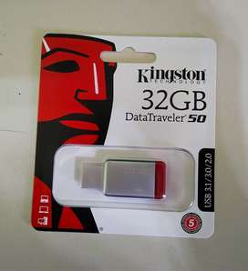 Pendrive Kingston DataTraveler 50 32GB 3.1 Gen 1 plateado/rojo