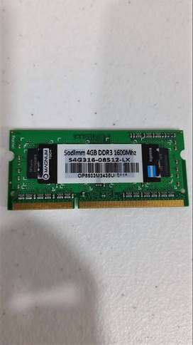 Memoria RAM 4 GB usada, en perfecto estado, para Laptop
