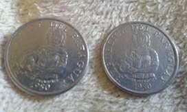 Monedas De Paraguay De 5 Guaraníes Año 1980