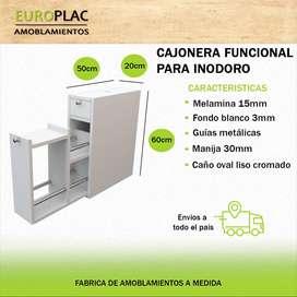 CAJONERA FUNCIONAL PARA INODORO BLANCO (Modelo CFI01)