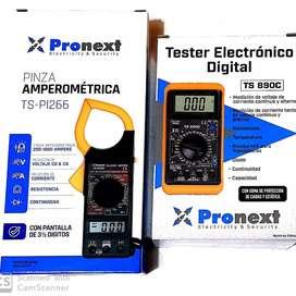 Tester Profesional digital + pinza amperometrica digital