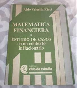 MATEMATICA FINANCIERA . ESTUDIO DE CASOS EN CONTEXTO INFLACIONARIO . ALDO VRICELLA RICCI LIBRO 1985
