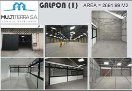 GALPON-BODEGA  ENTRE CARAPUNGO Y CALDERON  A 20M DE LA PANAMERICANA