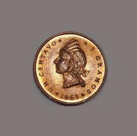 Moneda de la República Dominicana sin circular, 1963, 1 centavo