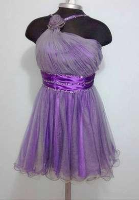 Alquiler vestido corto para quince años  May queen  ref: 0063 COLOR Morado Talla M referencia: 0063