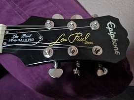 Vendo hermosa guitarra Epiphone les paul standar PRO impecable poco uso calibrada