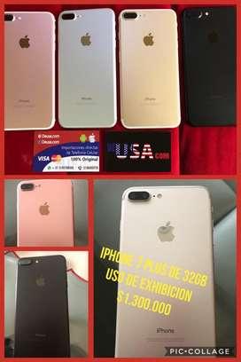 iPhone 7 Plus de 32Gb con Uso de Exhibición factura legal  y garantia