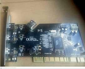 Firewire 1394A PCi 4 Puertos, Para conectar cámaras de video y digitales