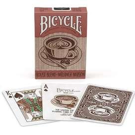 Cartas Bicycle Cafe House Blend Coffee Mezcla Hogar Original