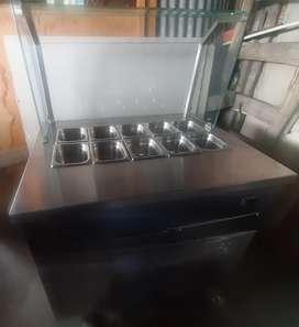 Mueble Exhibidor  Refrigerador para ensaladas, frutas o  Comidas frias