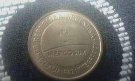 Moneda Argentina De 50 Centavos Mercosur Del Año 1998