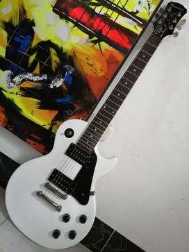 Guitarra eléctrica epiphone les paul 100 impecable alpine white custom shop limited edition