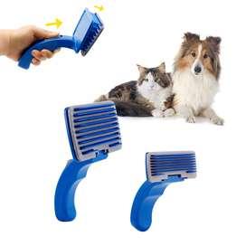 Cepillo Para Mascota Perro Gato Limpia Pelos Peine de Rastrillo De Aseo