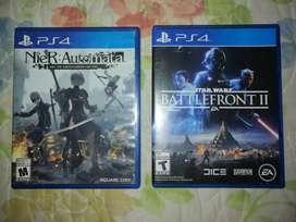 Vendo juegos ps4 nier autómata y star wars battlefront 2