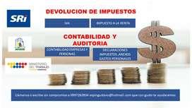 CONTADOR  - CONTABILIDAD - DEVOLUCION DE IMPUESTOS