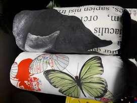 Cojines Mixtos Logos De Mariposas y Elefante