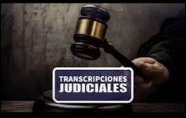 Servicio de TRANSCRIPCIÓN TRANSLITERACION judicial Transcripciones Judiciales Varias Etapas de Proceso. CERTIFICADO