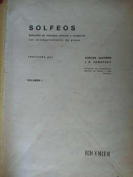 SOLFEO  VOLÚMEN 1  CARLOS SUFFERN Y A. JURAFSKY