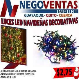 Luces led de 100 lineales navideñas decorativas