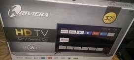 SMART TV RIVIERA FULL HD DE 32 PULGADAS NUEVO SELLADO CON 1 AÑO DE GARANTIA