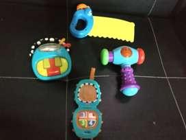 Lote de 4 Juguetes Bebé Motricidad Con sonidos