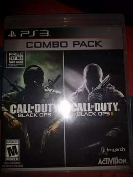 Combo pack: call of duty: black ops 1 y 2