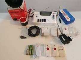 Alarma de hogar inalambrica GSM con sensores