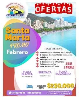 Tour promoción santa Marta en febrero
