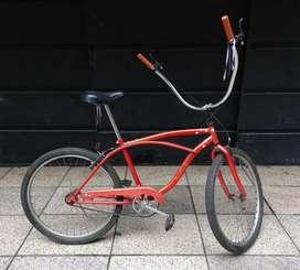 Bicicleta playera chopera con frenos manuales
