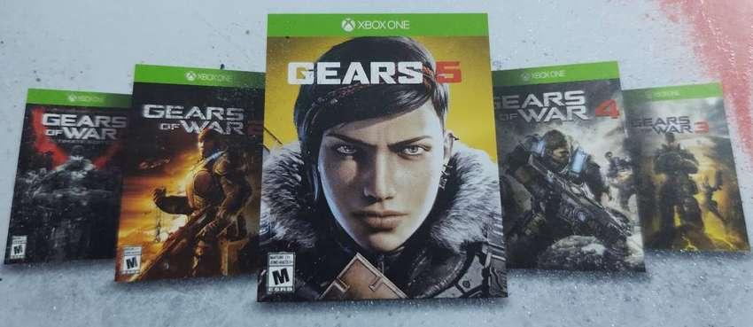 Xbox one x edición especial gear 5 con 1 mes de uso 0
