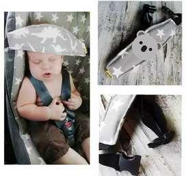 Vincha de sujeción cabeza bebé para butacas y huevitos.