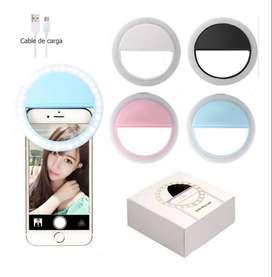 Aro Selfie De Luz Led Mini - Para Celulares, Tablet Y Laptops