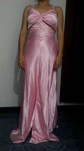 Venta de Vestido de Gala Rosado Americano Talla S