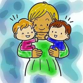 Niñera para cuidar 2 niños