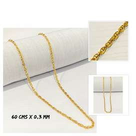 Cadena Oro Laminado 18k Tejido Gucci 60 cms x 3mm hermoso lazo