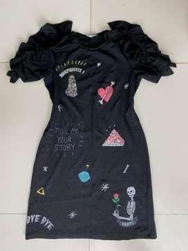 Hermoso vestido negro ZARA talla M