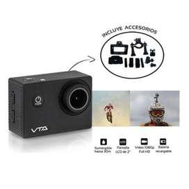 CAMARA DEPORTIVA RECARGABLE - FULL HD 1080p - VTA