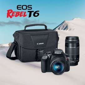 Canon Eos T6 18-55mm & 75-300mm Premiun Kit - Inteldeals