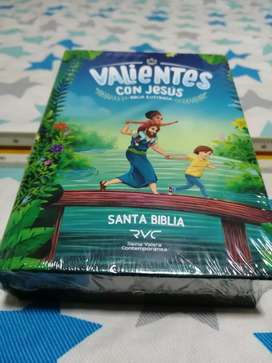 Biblia para niños valientes con Jesús tapa dura ilustrada.                .    .