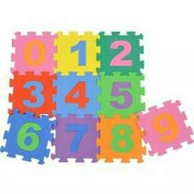 Tapetes Foami de números y letras.