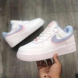 Nike af1 chulo zul para dama
