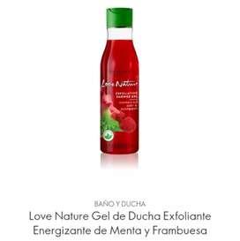 Exfoliante de Menta y Frambuesa (250 mL) Love Nature