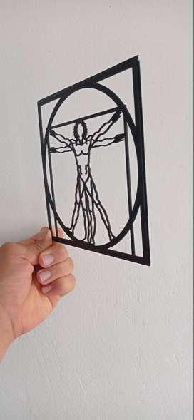 Hombre vitruvio 3D