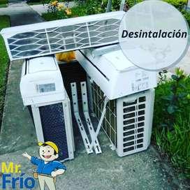 Desintalcion y instalación de Aires