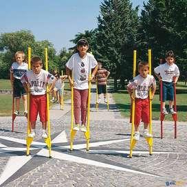 OPORTUNIDAD! - Zancos Metalicos para niños - Largo total 180 cm - Regulables $1500 (cada par)